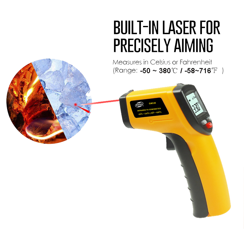 Non Contact Lcd Ir Laser Infrared Digital Temperature