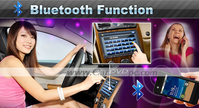 2 Din In Dash Car DVD Player GPS Stereo with 7 Inch Digital Touchscreen TV Bluetooth iPod PIP Radio