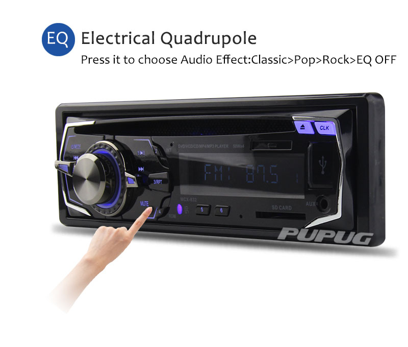 autoradio en voiture dash radio fm st r o lecteur dvd cd mp3 wma lecteur audio usb carte sd. Black Bedroom Furniture Sets. Home Design Ideas