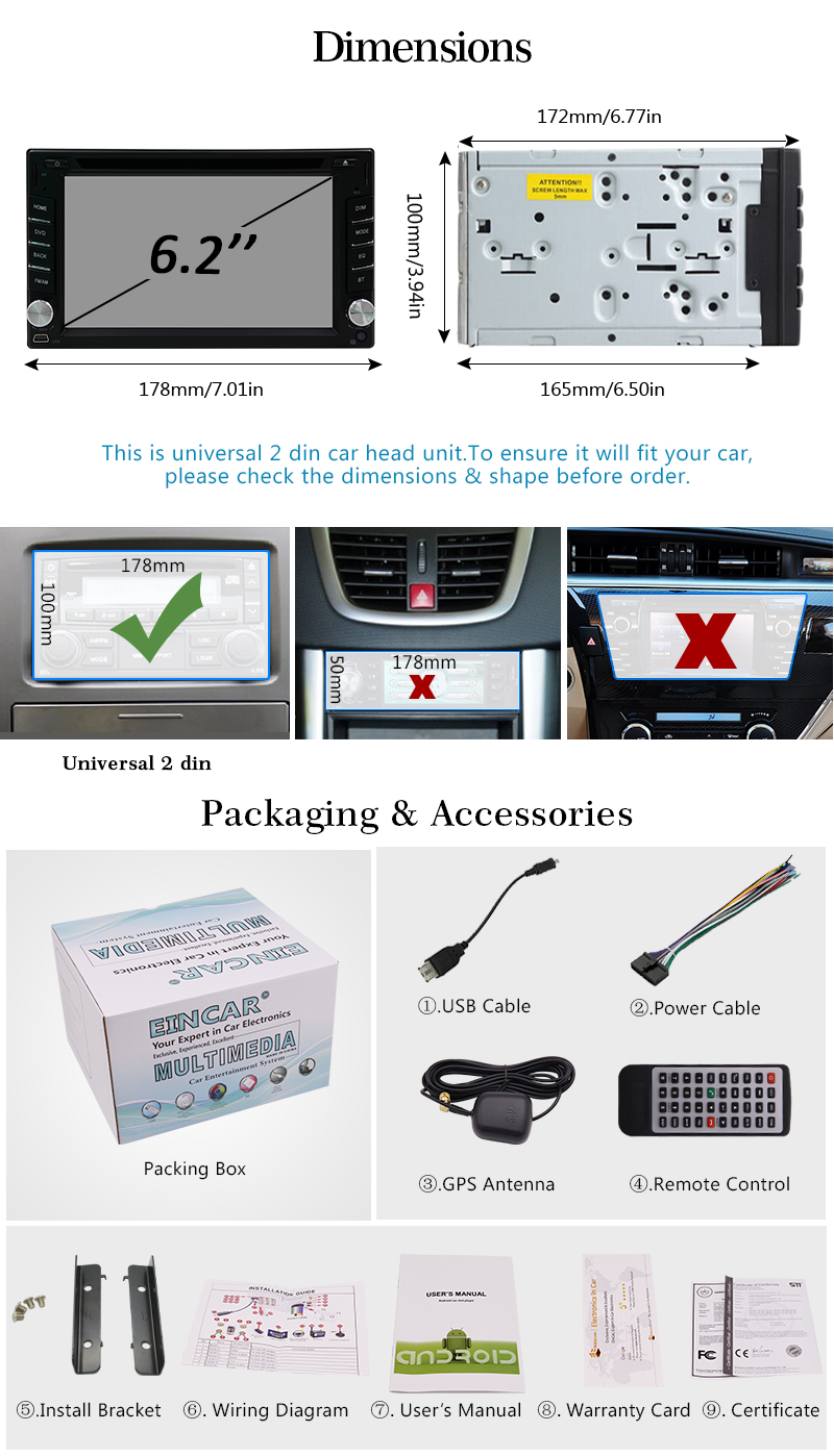 Android 60 Double 2din Car Radio Stereo Dvd Player Gps Nav Obd Obd2 Wiring Diagram For G35 Latest Osquad Core Processor16gb Rom1gb Ddr3 Ram