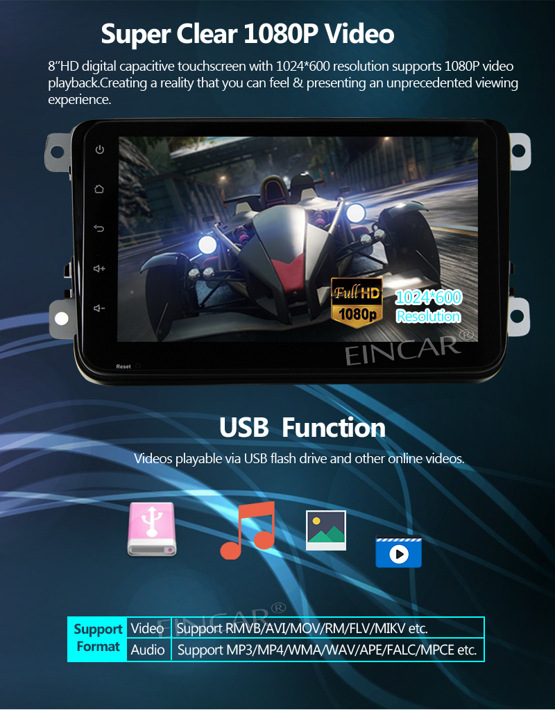 8Android 7 1 Trip Computer Car Radio Stereo For Volkswagen In Dash Octa  Core No DVD Player Head Unit Double Din 8'' Wifi Automotive Sound System